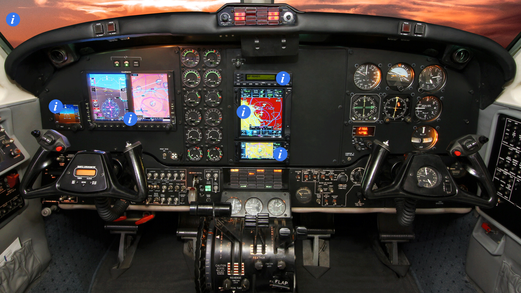 King Air 200B glass cockpit